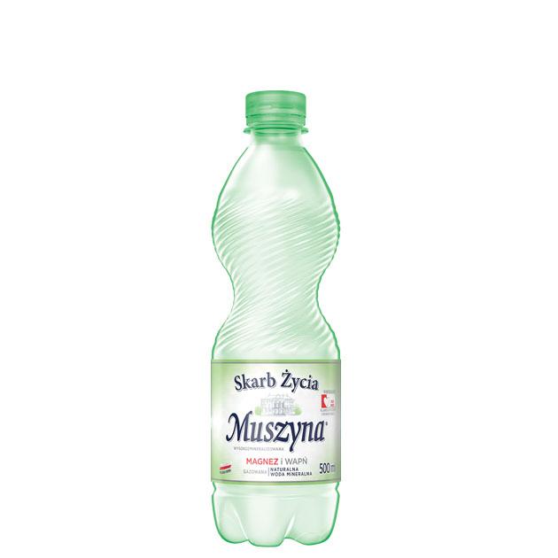 Skarb Życia Muszyna Woda Mineralna Gazowana 0.5