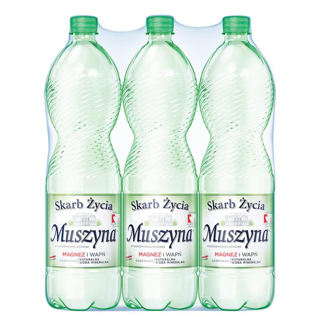 Skarb Życia Muszyna Woda Mineralna Gazowana 1.5 Zgrzewka