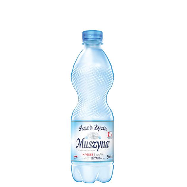 Skarb Życia Muszyna Woda Mineralna Lekko Gazowana 0.5