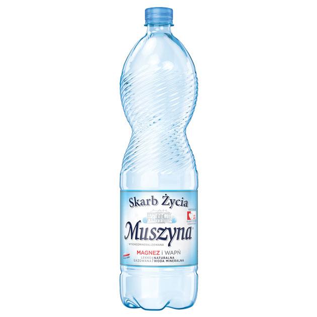 Skarb Życia Muszyna Woda Mineralna Lekko Gazowana 1.5