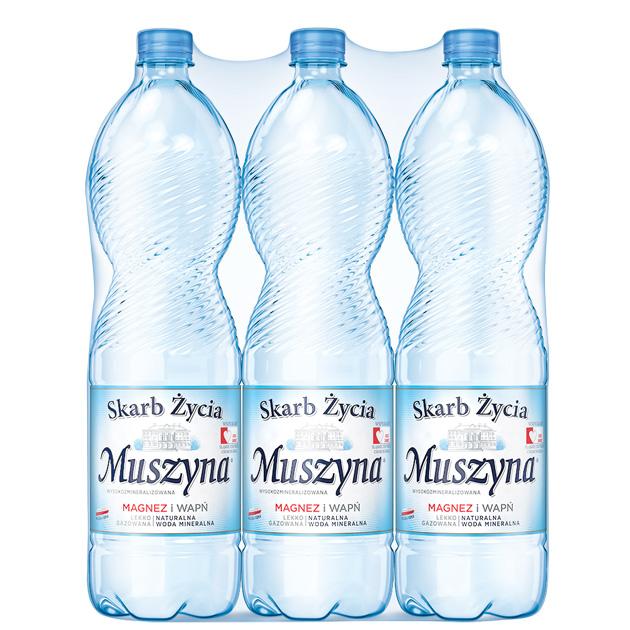 Skarb Życia Muszyna Woda Mineralna Lekko Gazowana 1.5 Zgrzewka
